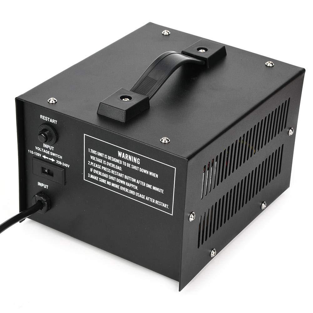 Convertisseur de Tension CA ST-500VA 500W Transformateur Puissance Monophas/é Intensif 110V /à 220V Transformateur Tension 110//120//220//240V avec 2 Universelles Prises pour Laboratoire Industrie Maison