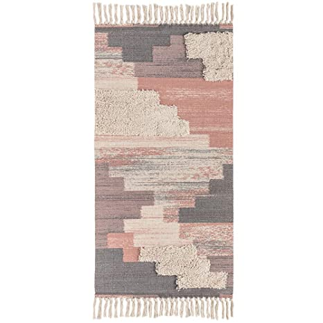 Amazon.com: Wolala Home - Alfombra de algodón con borlas ...
