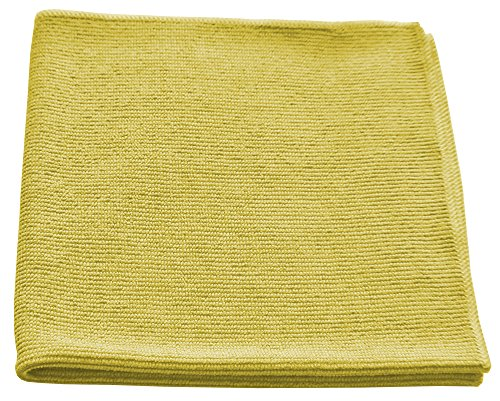 Microfiber Textured Glass Cleaning Cloth 16x16 - Yellow Case of 204 by Direct Mop Sales, Inc.