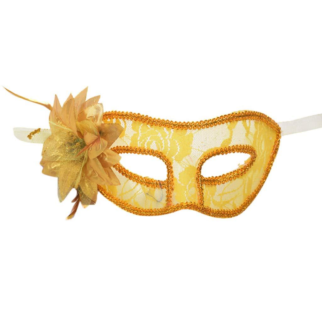 BEUU 2019 Carnival Mask Venetian Masquerade Masks Mardi Gras Party Costume Festival Party Yellow