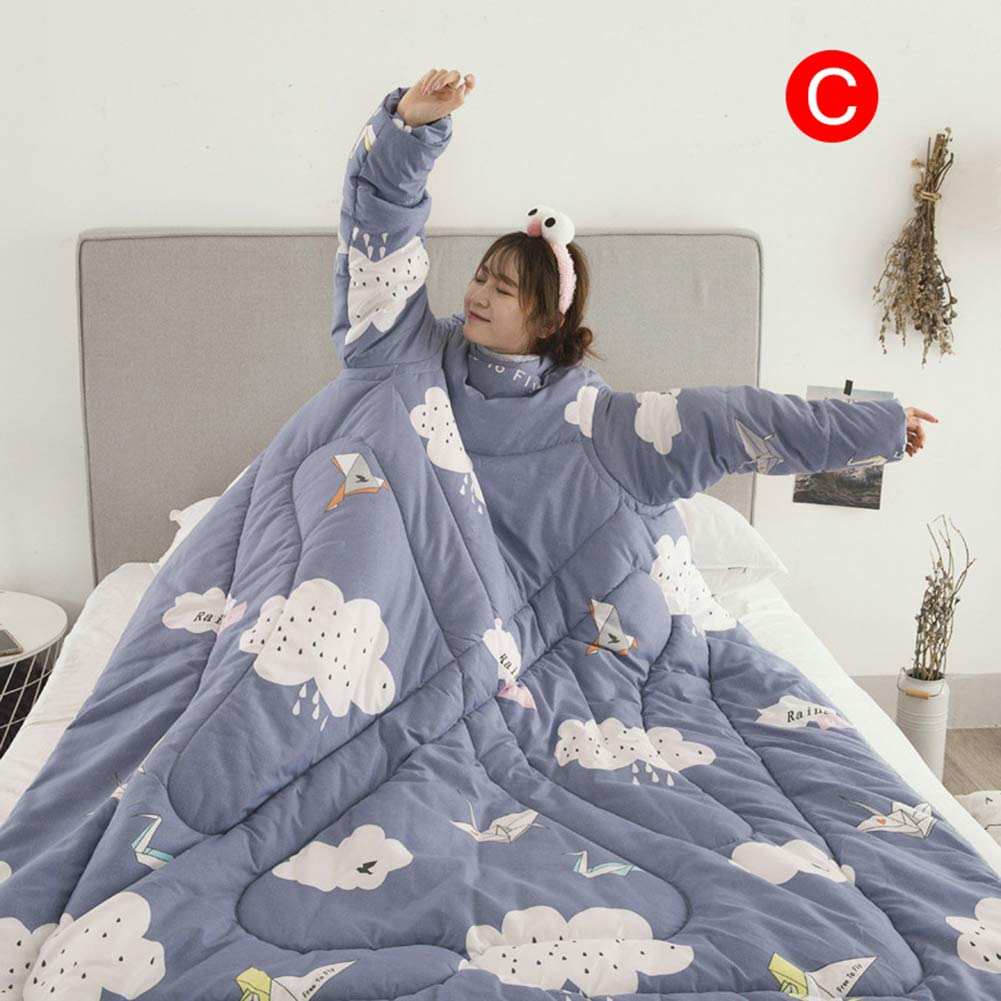 Coomir Lazy Quilt with Sleeves Blanket Cape Cloak Blanquea la Manta del Dormitorio 150x200cm