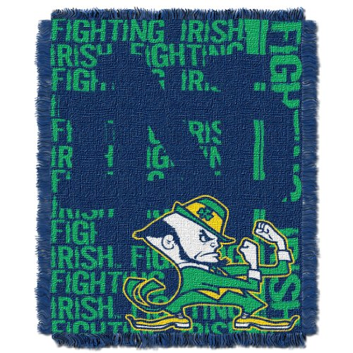 The Northwest Company Officially Licensed NCAA Norte Dame Fighting Irish Double Play Jacquard Throw Blanket, 48