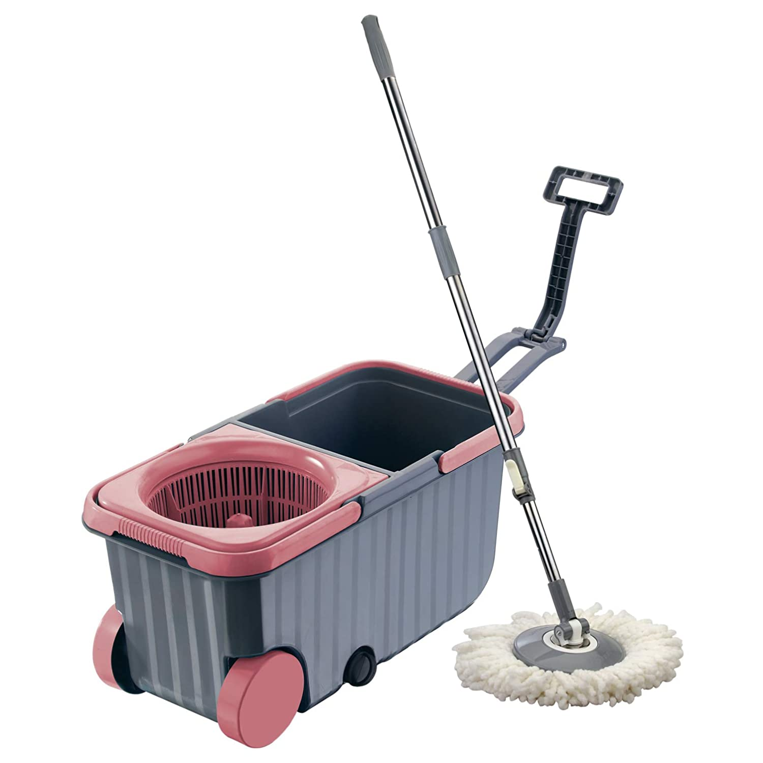 Polyset Dual Mop Bucket Set with Wheels for ₹686