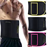 Waist Trimmer for Women and Men - Sauna Belt AB Belt with Comfortable Phone Pocket Waist Trainer for Weight Loss
