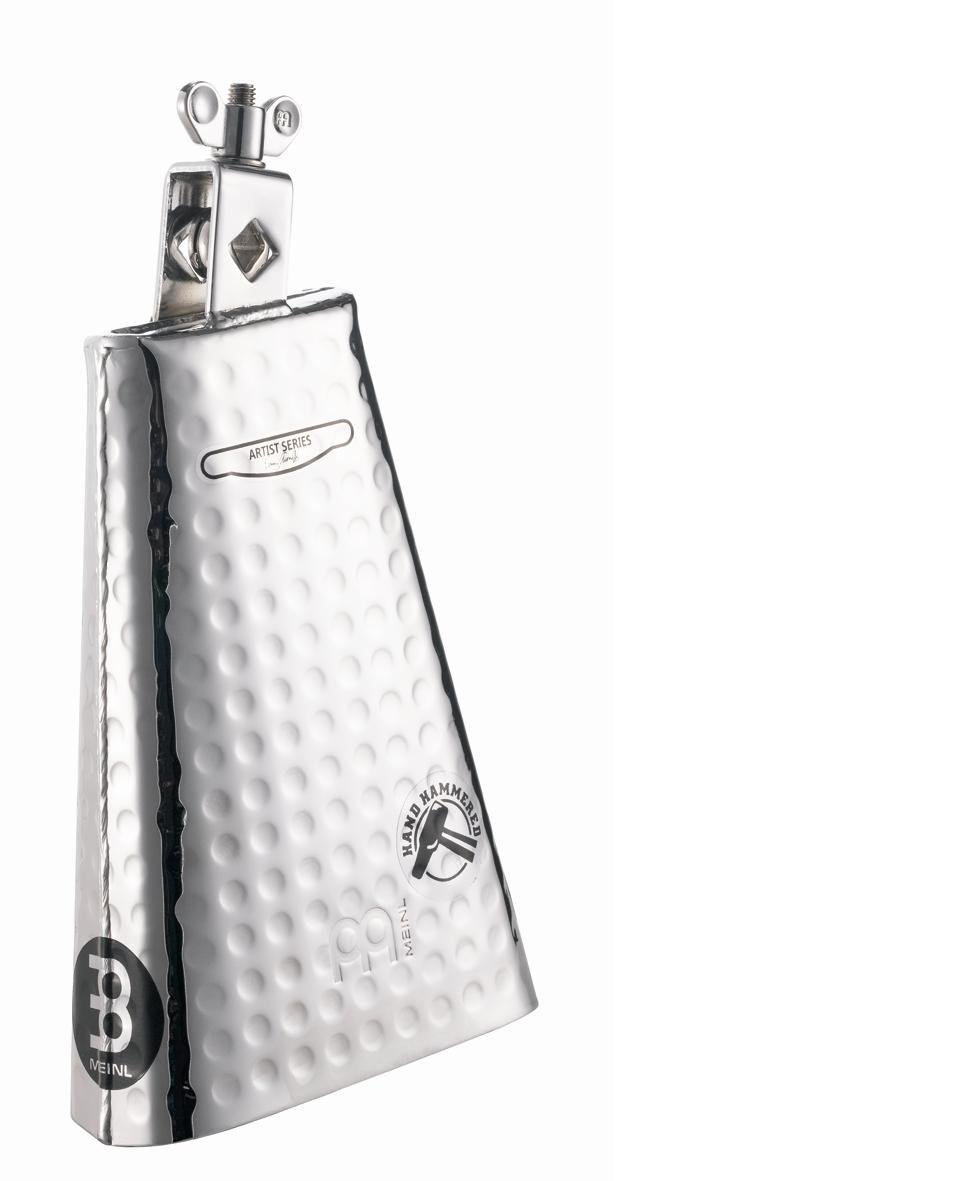 Meinl Percussion KA80S Kenny Aronoff Signature Hand Hammered Steel Cowbell With Chrome Finish, 8-Inch