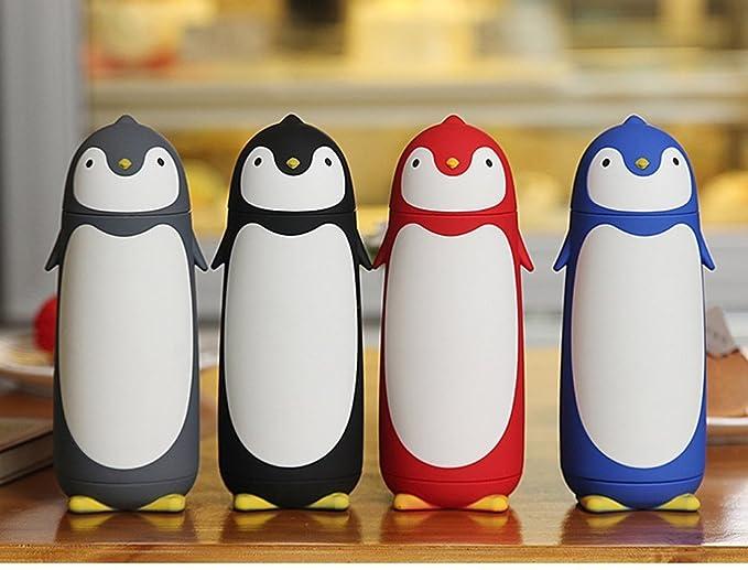 Termo de acero inoxidable con diseño de pingüino de 280 ml: Amazon.es: Hogar
