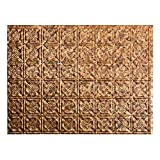 Fasade Easy Installation Traditional 6 Cracked Copper Backsplash Panel for Kitchen and Bathrooms(18' x 24' Panel)