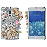 SpritechTM-Bling-Phone-Case3D-Handmade-Silver-Crystal-Flower-Pendant-Accessary-Design-Cellphone-Clear-Cover