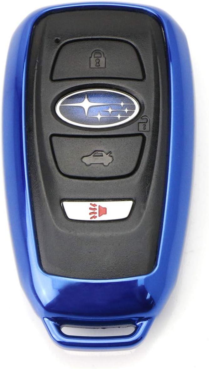 2015-up Subaru WRX STI Legacy XV Crosstrek VCiiC Genuine Leather Car Remote Key Case Cover Fit for 2013-up Subaru BRZ etc Outback