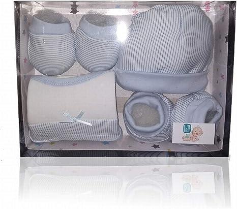 Set pack primera puesta bebé, regalo recién nacido, 4 piezas, 100% algodón, CUTE BABIES: Amazon.es: Bebé