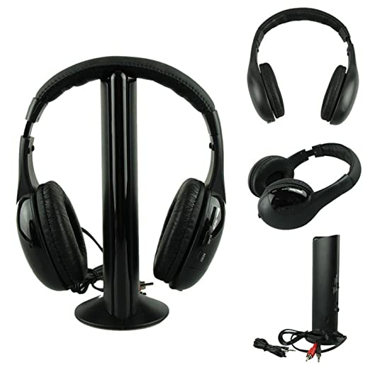 Creazy® 5IN1 Wireless Headphone Casque Audio Sans Fil Ecouteur Hi-Fi Radio FM TV