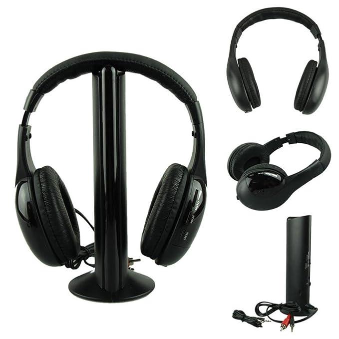 Amazon.com: Creazy® 5IN1 Wireless Headphone Casque Audio Sans Fil Ecouteur Hi-Fi Radio FM TV MP3 MP4: Clothing