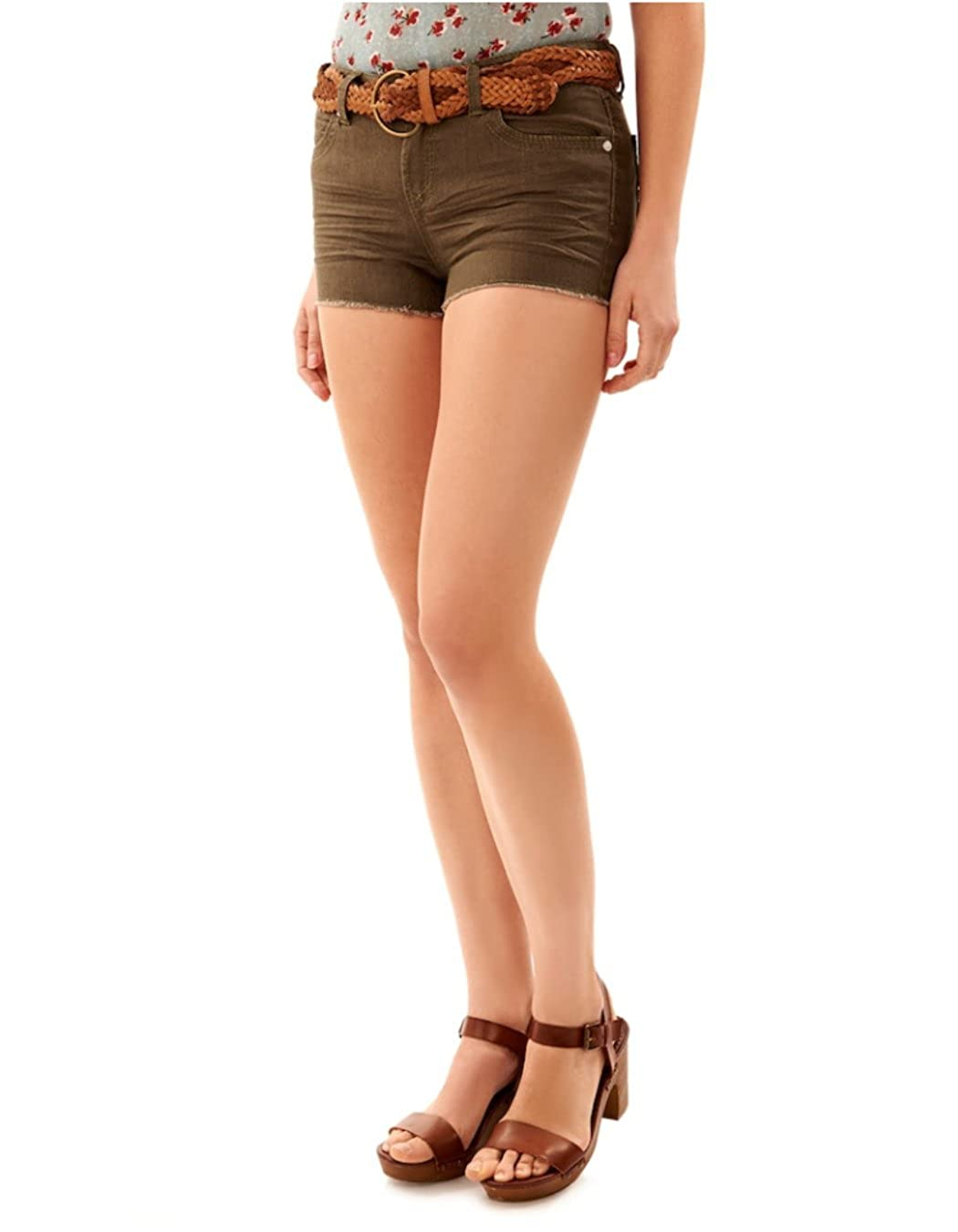 WallFlower Women's Juniors Belted Classic Legendary Shorty Shorts (Color Options) WFJ07792L
