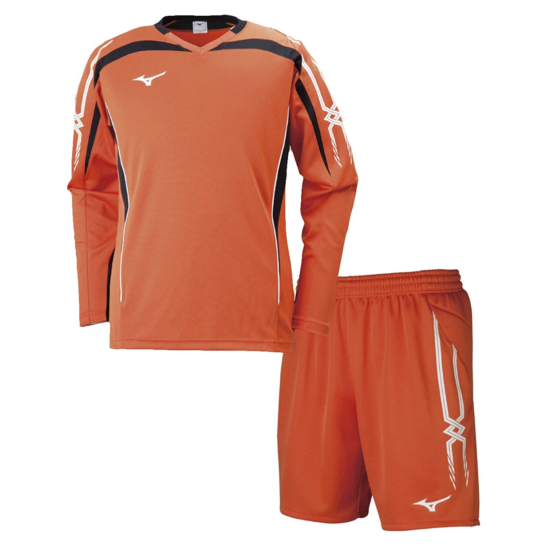 ミズノ(MIZUNO) キーパーシャツ&キーパーパンツ 上下セット(フレイムオレンジ/フレイムオレンジ) P2MA8070-54-P2MB8070-54 B079Z23YWTフレイムオレンジ L