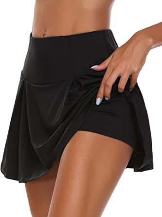 UMINA Active Skort Women Athletic Tennis Skorts for Running Golf Workout