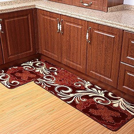 Charmant USTIDE 2 Piece Coffee Totem Kitchen Rug Set Coral Fleece Bathroom Rug Sets  Super Soft