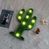 New Green Cactus Marquee LED Night Light Battery Operated Night Lights For Kids Rooms Children Cute Bedroom Lamp luminarias