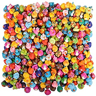 Narwhal Novelties Rubber Duck Bath Toy Assortment (300-Pack) Bulk Rubber Ducks (300)