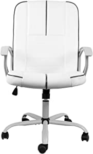 Statesville Heavy Duty Executive Office Chair High Back Swivel Office Chair Comfortable Flip up Armrest Bonded PU Leather Home Office Chair