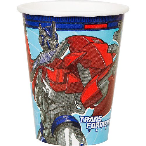 amscan Transformers 'Prime' 9oz Paper Cups (8ct) (Cups Ounce 9 Transformers)