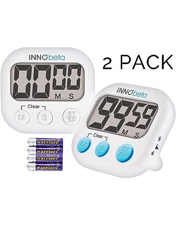 InnoBeta 2X Temporizador Digital de Cocina con Cuenta atrás, Electrónico cronómetro y Magnético Temporizador,