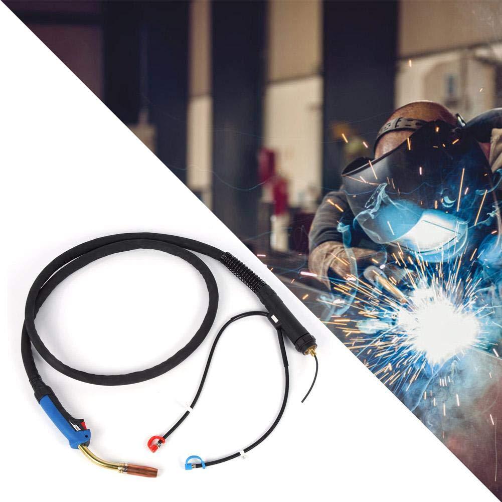 MIG Torch,MIG Taschenlampe MB 501D 500A MIG-Brenner wassergek/ühlt Kohlendioxidgasgesch/ützter Schwei/ßbrenner Wassergek/ühlter Schwei/ßbrenner 3 Meter lang 500A,0.-0.65MPa,1-25mm