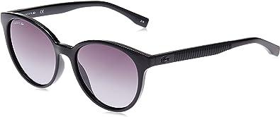Amazon Com Lacoste Women S L887s Round Sunglasses Black Grey Gradient 54 Mm Clothing