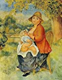 Pierre Auguste Renoir Motherhood Aka Woman Breast Feeding Her Child 30x39