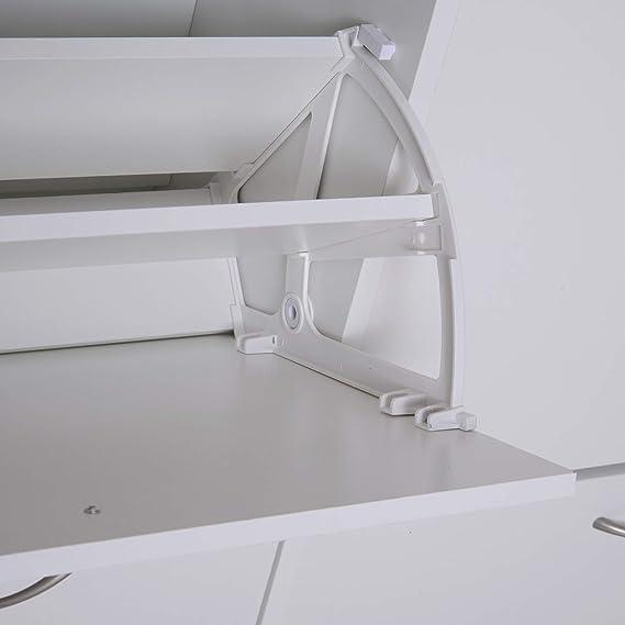 homcom Scarpiera Salvaspazio capacit/à 24 Ingresso e Camera da Letto Legno 120x24x81cm