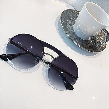 LXKMTYJ Sonnenbrillen Sonnenbrillen Mit Großem Rahmen Tide Dünne Gläser, Rot