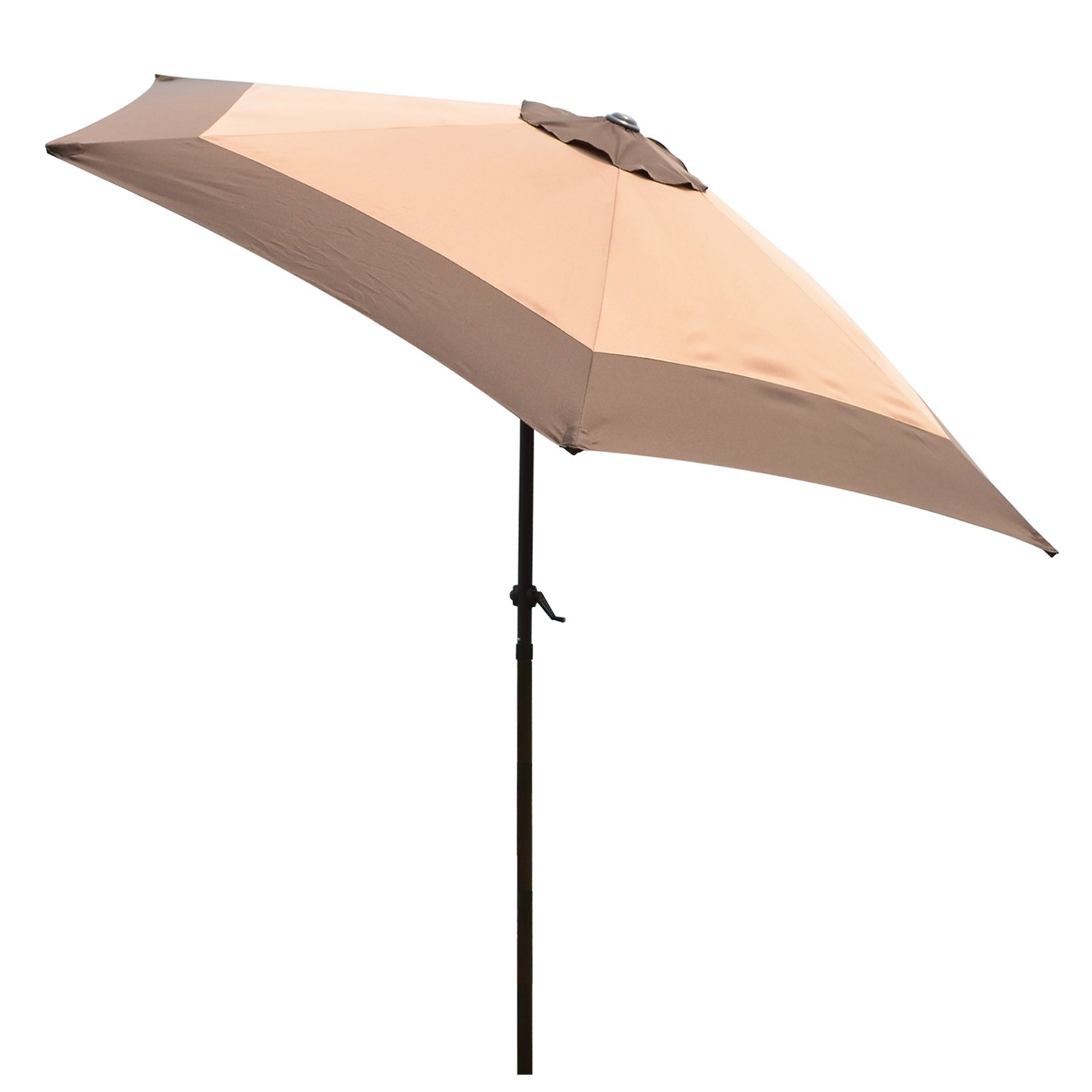 Supernova Patio Umbrella 9ft Aluminum Pipe Polyester Fabric Outdoor Market Yard Beach Coffee Khaki Mix Coffee Khaki Mix