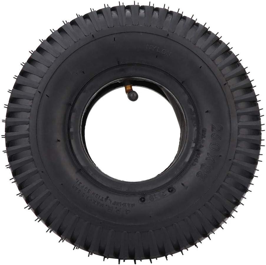Neumáticos para silla de ruedas y scooter de movilidad, resistente al desgaste 3.00-4/260X85 Neumático + tubo interior para scooter Silla de ruedas