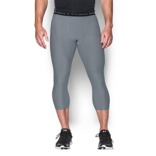 7adee955bfd590 Amazon.com: Under Armour Mens Heatgear Armour twist 3/4 Compression Leggings:  UNDER ARMOUR: Clothing