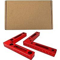 Haakse Klem Carpenter Tool, Frame Aluminium Bevestiging Heerser Hoek L Type Houtbewerking Houder Blok Positionering…