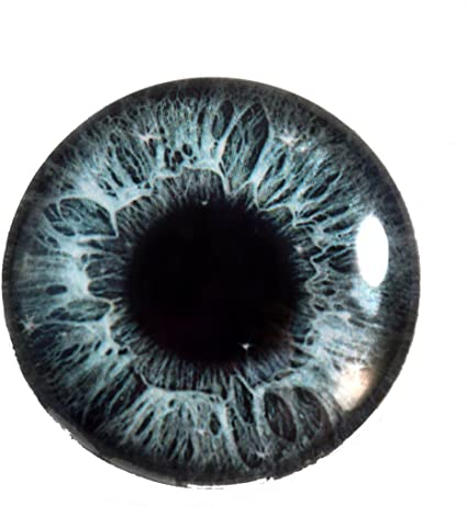 25mm Single Intense Blue Human Fantasy Glass Eye for Taxidermy Sculptures or Jewelry Making Crafts