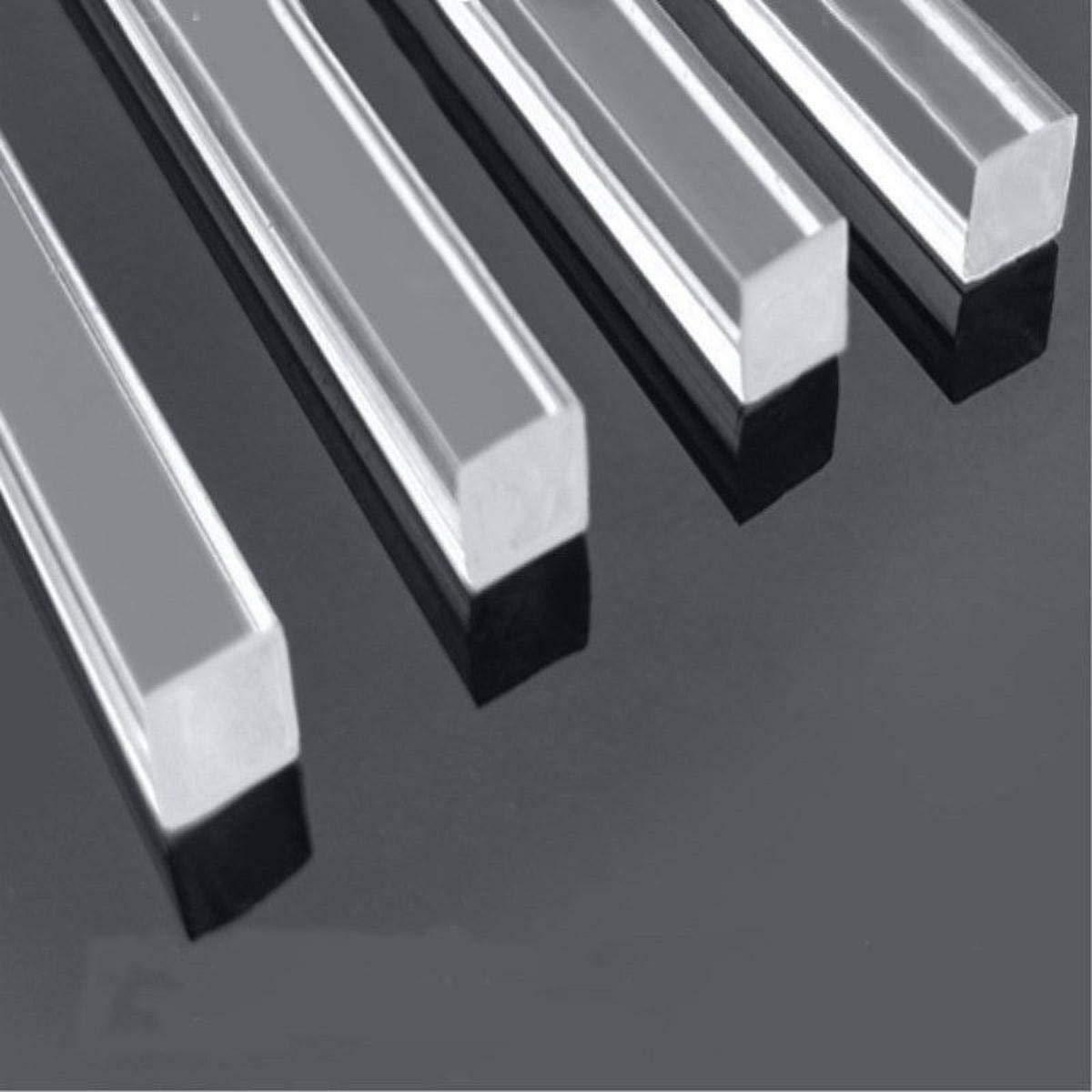 US Stock 48pcs Square Clear Acrylic Plexiglass Lucite Rod Bar 2 x 2mm 250mm Long