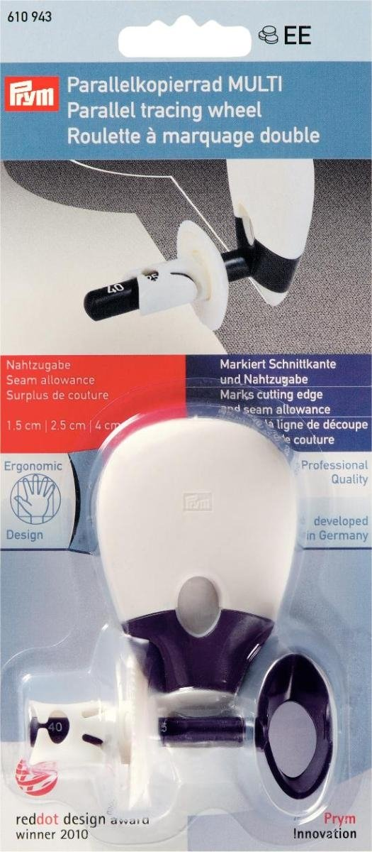 Prym - Rotella per tracciatura da cucito in parallelo, bianco 610943