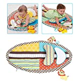 GLOGLOW Multi-functionnal Baby Play Carpet Waterproof Infant Education Height Digital Doll Game Mat with Mirror and Teether Toys