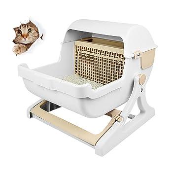 S Cajas De Arena para Gatos Autolimpiables con Filtro Filtro De Rejilla Easy Clean, Limpieza Automática De Arena para Gatos: Amazon.es: Deportes y aire ...