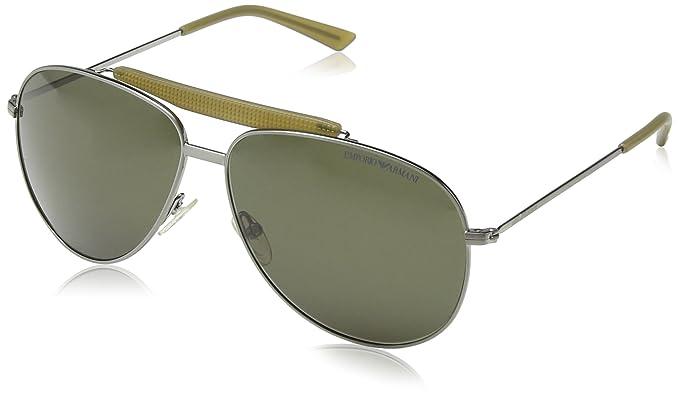 Emporio Armani - Gafas de sol Aviador EA 9807/S, Dark Green Metal Frame / Dark Green Lens: Amazon.es: Ropa y accesorios
