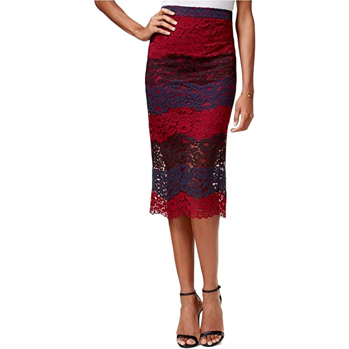 13e06a41a644 Bar III Womens Lace Pencil Skirt at Amazon Women's Clothing store: