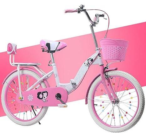 JBHURF Bicicletas Plegables para niños y niñas. Adecuado ...