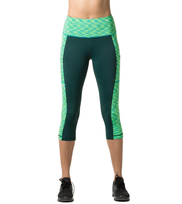 73f79ca16c7baa LAPASA Damen Capri Leggings 3 4 Sport Yoga Pants Knielang Blickdicht High  Wasit mit Tasche L002