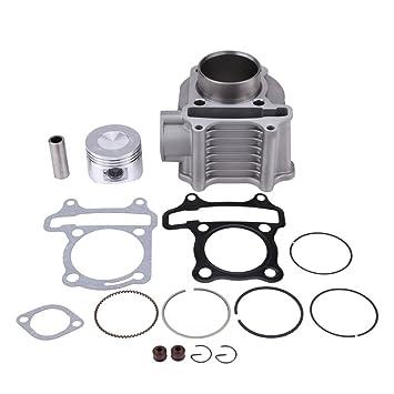 KIMISS Kits de pistón de Cilindro de la motocicleta Kits de pistón de cilindro de motor para GY6 / 125CC / 150CC / 152QMI: Amazon.es: Coche y moto