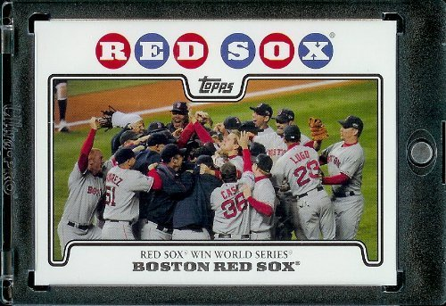 2008 Topps Boston Red Sox LIMITED EDITION Team Edition Baseball Card # 53 Team Celebration Card - Red Sox Win World Series - MLB Trading Card - Fleer Limited Edition Baseball Card