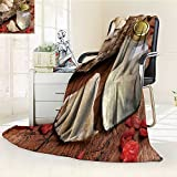 Fleece Blanket 300 GSM Anti-static Super Soft the nest of edible nest swiftlet raw edible bird s nest materials for tradition Warm Fuzzy Bed Blanket Couch Blanket(60''x 50'')