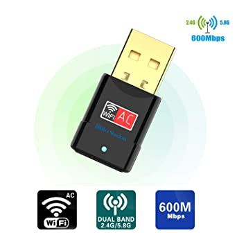 Amazon.com: Adaptador WiFi USB – Dual Band 2.4G/5G Mini WiFi ...
