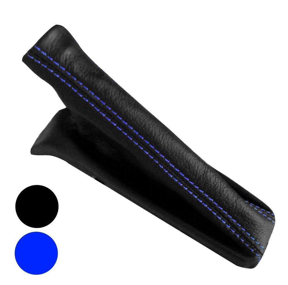 AERZETIX Soufflet de Frein /à Main Noir en Cuir v/éritable Couture Bleue