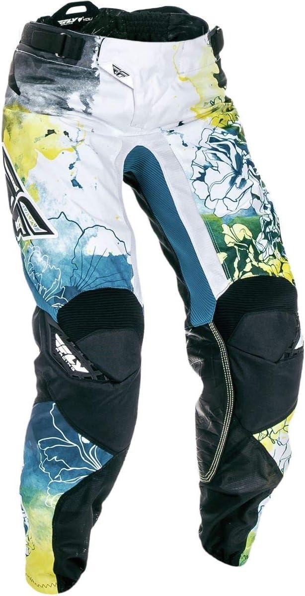 Fly Racing Unisex-Adult Kinetic Womens Race Pants Teal//Yellow Size 56