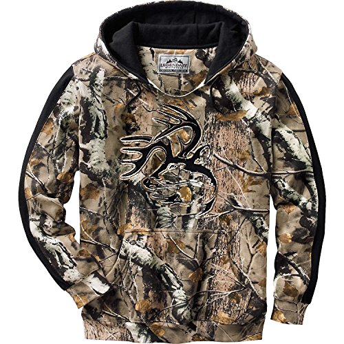 Legendary Whitetails Mens Camo Outfitter Hoodie BG Field Camo Large - Sweatshirt Field Mens
